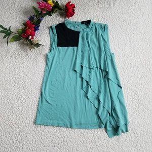 Robert Rodriguez Top Blouse Sleeveless Medium Blue